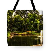 August By The Fountain Tote Bag