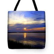 August Sunset Reflection Tote Bag