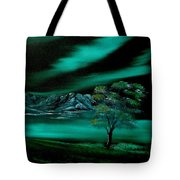 Aurora Borealis In Oils. Tote Bag