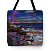Aurora Borealis Over Florida Tote Bag