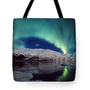 Aurora Over Portage Tote Bag