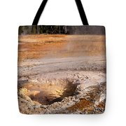 Aurum Geyser In Upper Geyser Basin In Yellowstone National Park Tote Bag