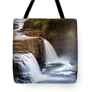 Ausable Chasm Waterfall Tote Bag