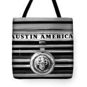 Austin America Grille Emblem -0304bw Tote Bag