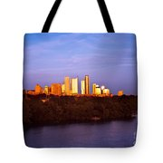 Austin At Last Light Tote Bag