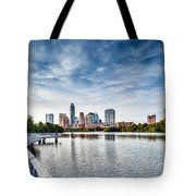 Austin Boardwalk View On Lake Tote Bag