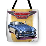 Austin Healey 3000 Blue-white Tote Bag