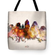 Austin Painted City Skyline Tote Bag