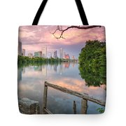 Austin Skyline From Lou Neff Point Tote Bag