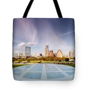 Austin Skyline From The Longs Center For The Performing Arts Tote Bag