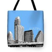 Austin Skyline - Sky Blue Tote Bag