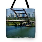Austin Texas 360 Bridge Vert Tote Bag