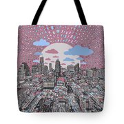 Austin Texas Abstract Panorama 3 Tote Bag