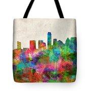 Austin Texas Abstract Panorama 4 Tote Bag