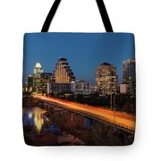 Austin, Texas Cityscape Evening Skyline Tote Bag