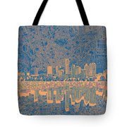 Austin Texas Skyline 2 Tote Bag