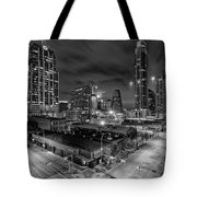 Austin Texas Skyline Get Out The Crane Construction Time Again Tote Bag