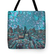 Austin Texas Vintage Panorama 4 Tote Bag