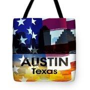 Austin Tx Patriotic Large Cityscape Tote Bag