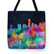 Austin Watercolor Panorama Tote Bag