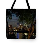 Austin Wooded Skyline Tote Bag