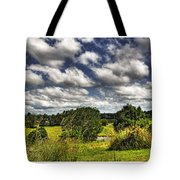 Australian Countryside - Floating Clouds Collage Tote Bag