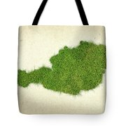 Austria Grass Map Tote Bag by Aged Pixel