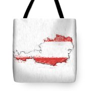 Austria Painted Flag Map Tote Bag