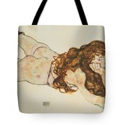 Austria Vienna Female Nude Lying On Her Stomach Tote Bag