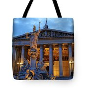 Austrian Parliament Building Tote Bag by Mariola Bitner