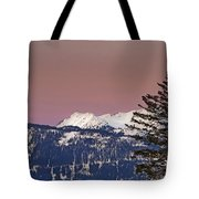 Austrian Winter Scenic Panorama Tote Bag