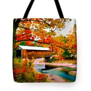 Authentic Covered Bridge Vt Tote Bag