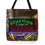 Authentic Lunch Seafood Tote Bag