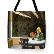 Automat Tote Bag by Edward Hopper