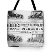 Automobile Ad, 1905 Tote Bag