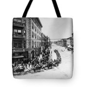 Automobile Transportationa Row Tote Bag