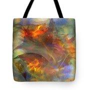 Autumn Ablaze - Square Version Tote Bag
