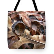 Autumn Acorn And Oak Leaves Tote Bag by Jennie Marie Schell