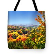 Autumn Across The Hills Tote Bag
