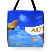 Autumn Advertising Banner Tote Bag
