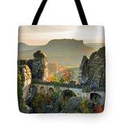 Autumn Afternoon On The Bastei Bridge Tote Bag