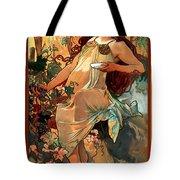 Autumn Tote Bag by Alphonse Maria Mucha