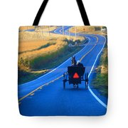 Autumn Amish Buggy Ride Tote Bag