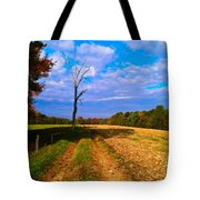 Autumn And The Tree Tote Bag