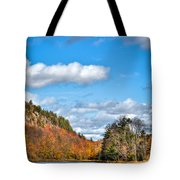Autumn At Bald Mountain Pond Tote Bag