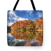 Autumn At Boley Lake Tote Bag by Jaki Miller