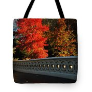 Autumn At Bow Bridge Tote Bag