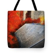 Autumn At Chicago Millennium Park Bp Bridge Mixed Media 03 Tote Bag