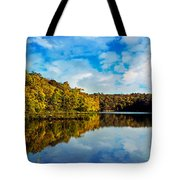 Autumn At Sailboat Cove Tote Bag