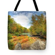 Autumn At The Creek - Green Lane - Pennsylvania - Usa Tote Bag